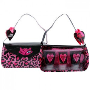 Trousse de bain I love you Fleur de rose
