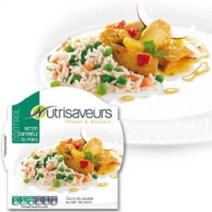 Plat action minceur Contrôle du poids: Curry de poulet au lait de coco