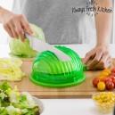 Moule pour Lavage, Essorage et Découpe Rapide des Salades Quick Salad Maker
