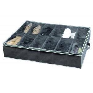 housse dessous de lit rangement 12 paires de chaussures. Black Bedroom Furniture Sets. Home Design Ideas