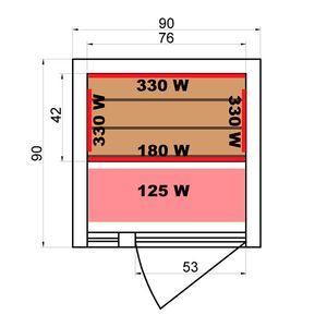 Plan Sauna Infrarouge Soleil Blanc 1