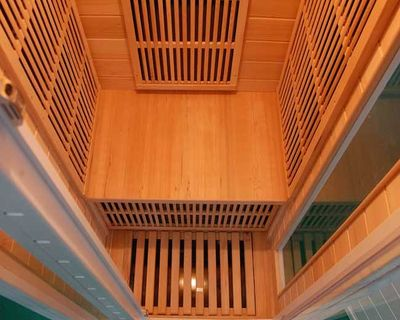 Sauna Infrarouge Soleil Blanc 1 Intérieur